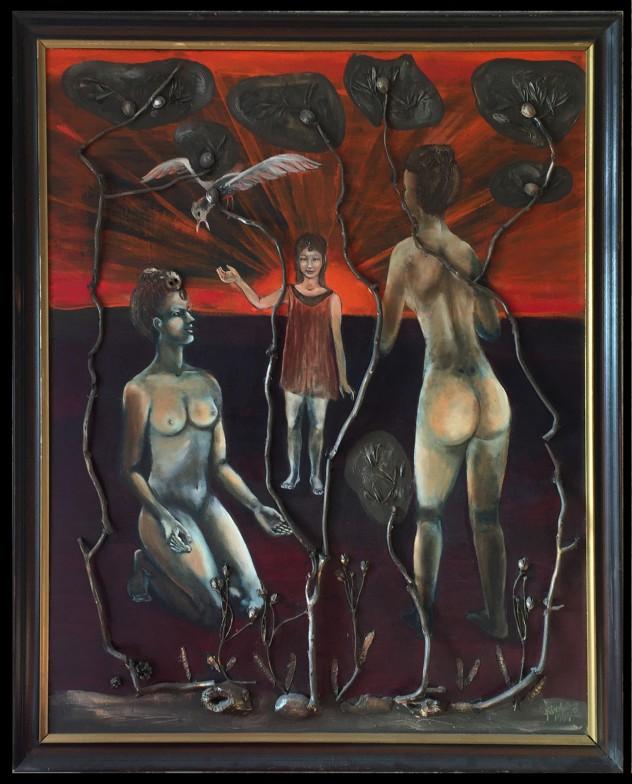6.Károlyfi Zsófia Vízió 140x100 cm. Vegyes technika kereteett nyírfa (2) másolata