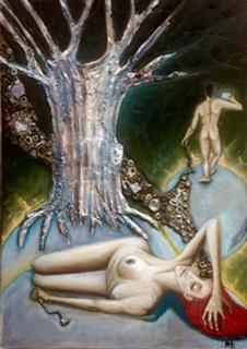 The past falles the future borns (50x70-oil-mixed media-canvas) (1)